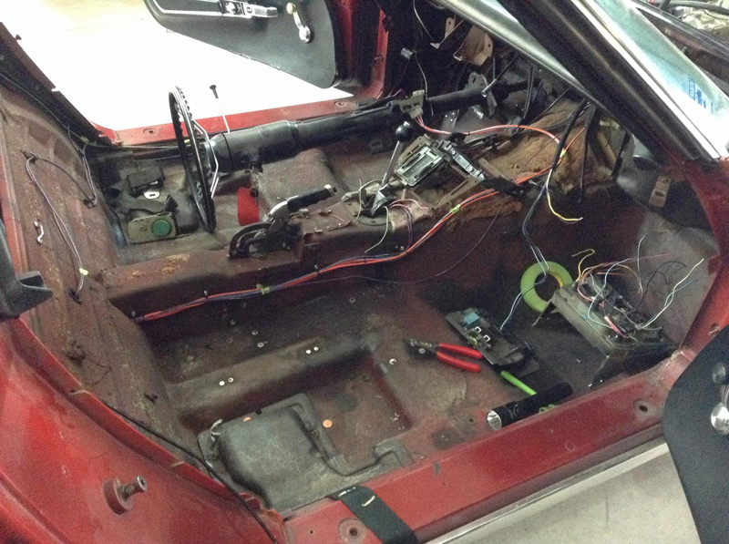 1975 Corvette complete wiring harness Relocated fuse panel for easier access